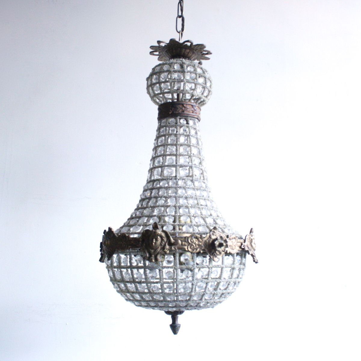 Antique Empire Balloon Chandelier - Antique Empire Balloon Chandelier For Sale At Pamono