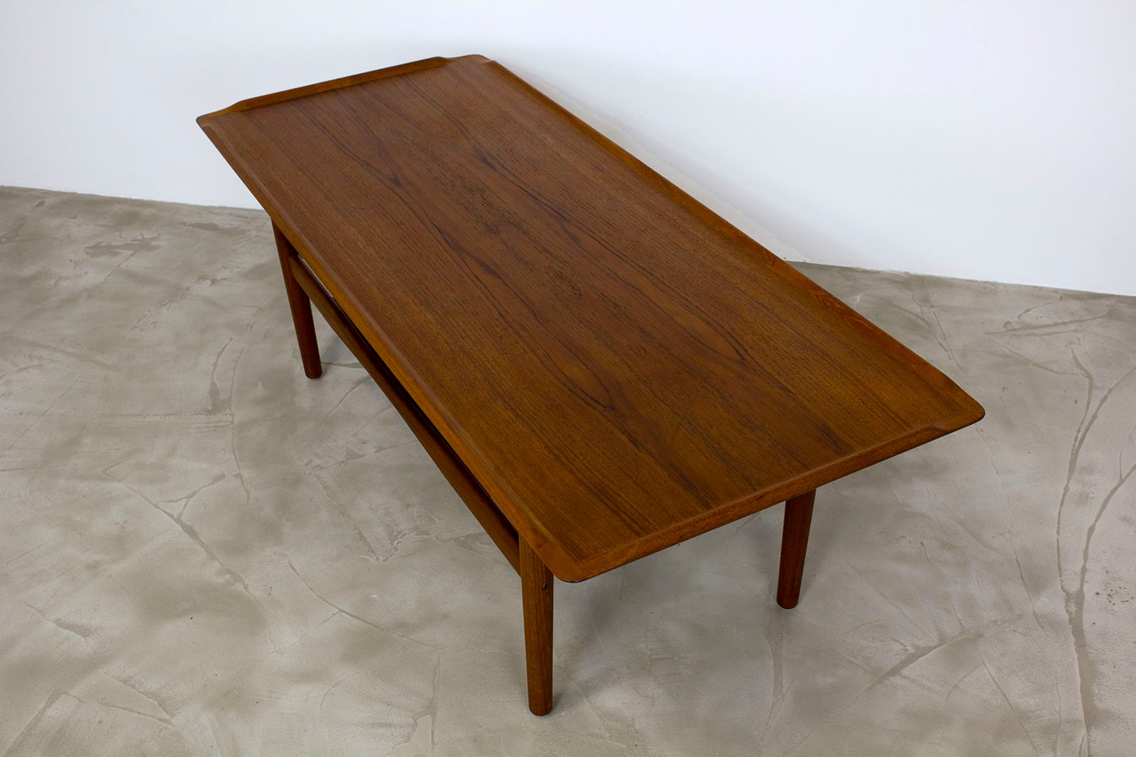 Danish Teak Coffee Table With Lipped Edges From Imha Modell 1960s For Sale At Pamono
