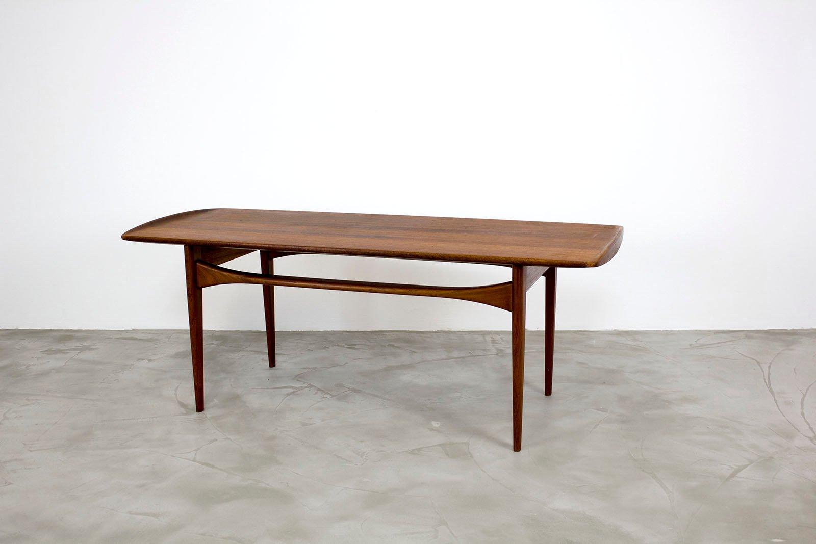 Vintage Danish Teak Coffee Table By Tove U0026 Edvard Kindt Larsen For France U0026  Daverkosen