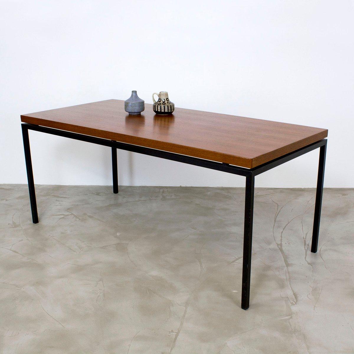 Mid-Century Teak Veneer Coffee Table, 1960s For Sale At Pamono