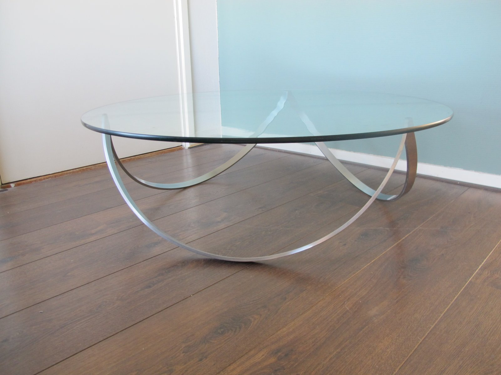 Steel Glass Coffee Table 1960s For Sale At Pamono
