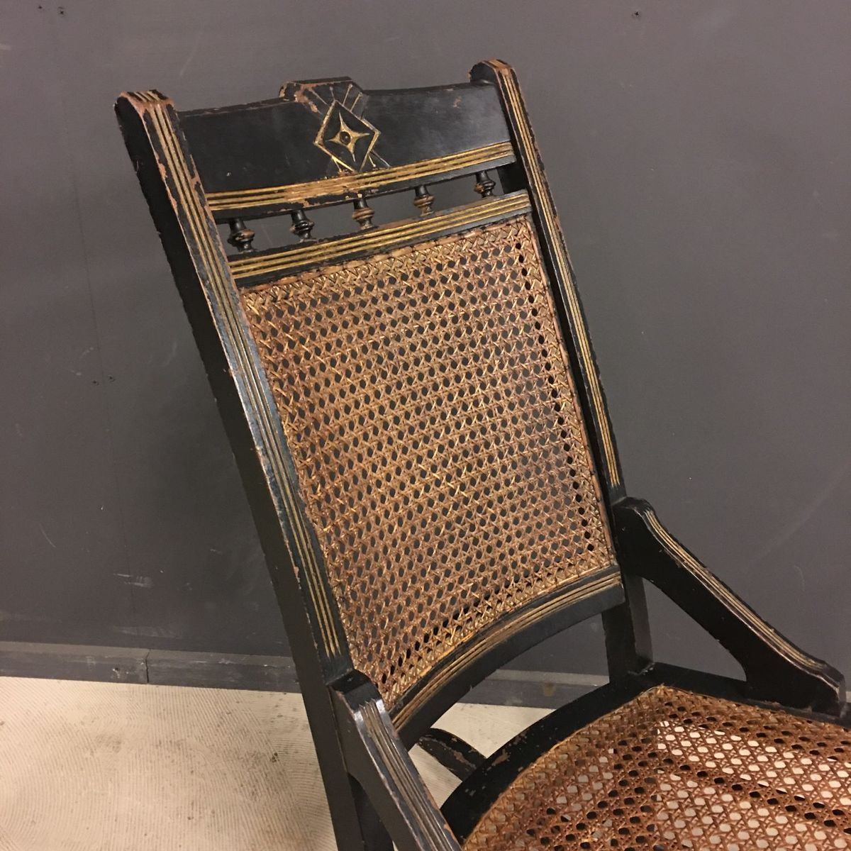 Antiker franz sischer schaukelstuhl bei pamono kaufen for Schaukelstuhl kufen