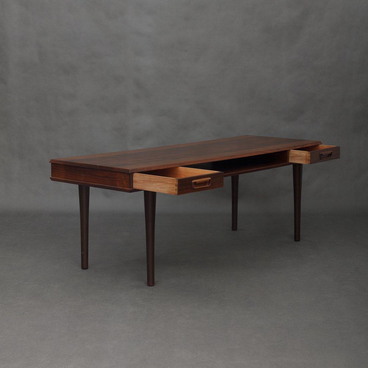 D nischer palisander tisch mit zwei schubladen 1960er bei for Palisander tisch