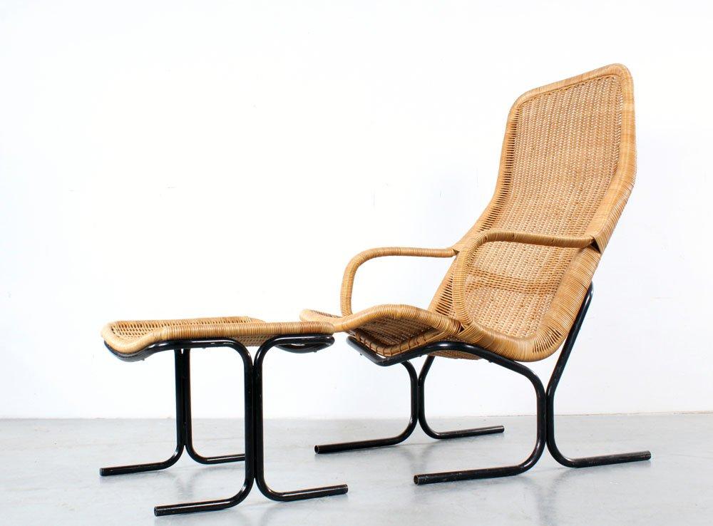 mid century sessel fu hocker von dirk van sliedregt f r gebr jonkers bei pamono kaufen. Black Bedroom Furniture Sets. Home Design Ideas