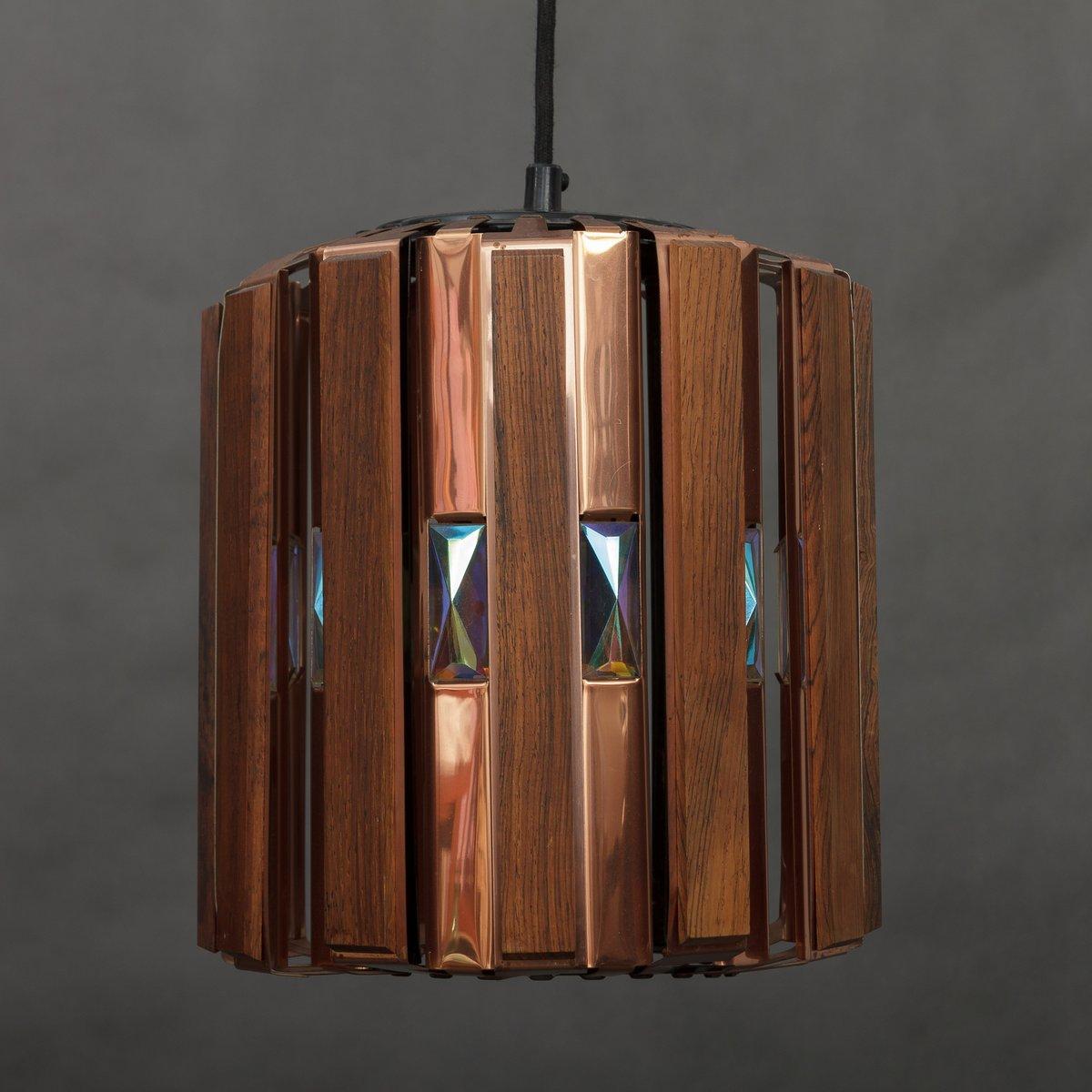 Kupfer Esstisch Lampe ~ Lampe aus Kupfer & Palisander von Werner Schou für Coronell, 1960er bei P