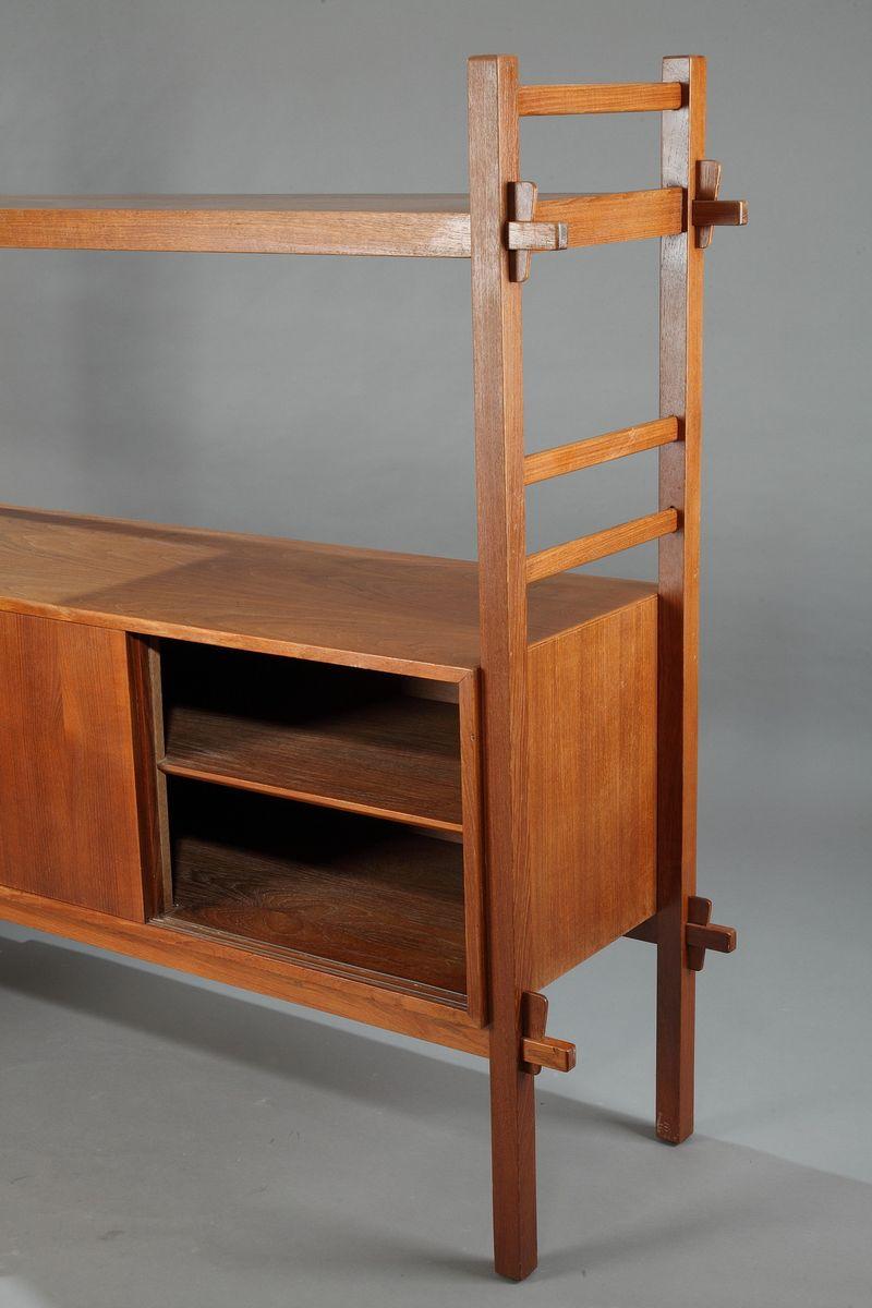 skandinavisches teak regal 1960er bei pamono kaufen. Black Bedroom Furniture Sets. Home Design Ideas