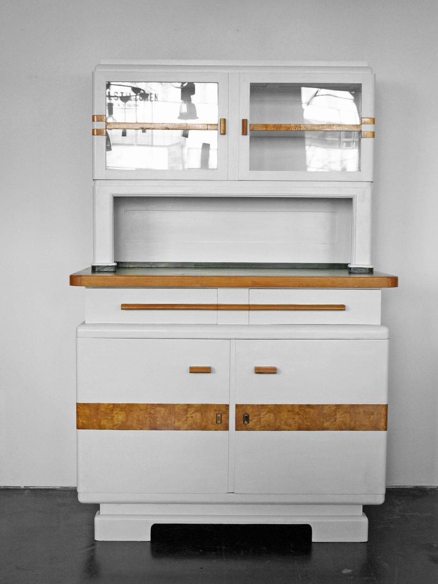 wei er deutscher vintage k chenschrank bei pamono kaufen. Black Bedroom Furniture Sets. Home Design Ideas