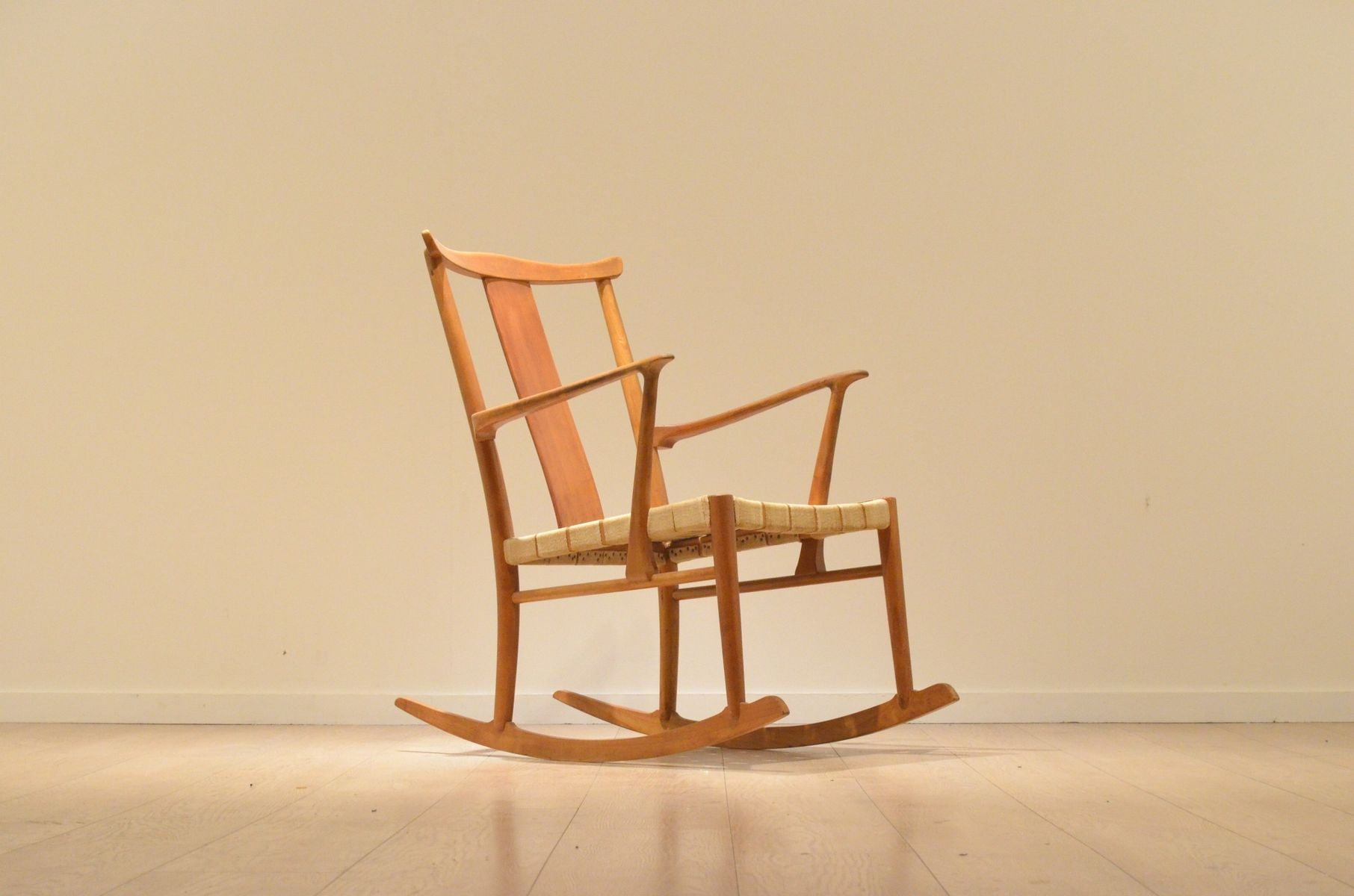 Model 1773 Rocking Chair by Axel O Larsen for Fritz Hansen 1943
