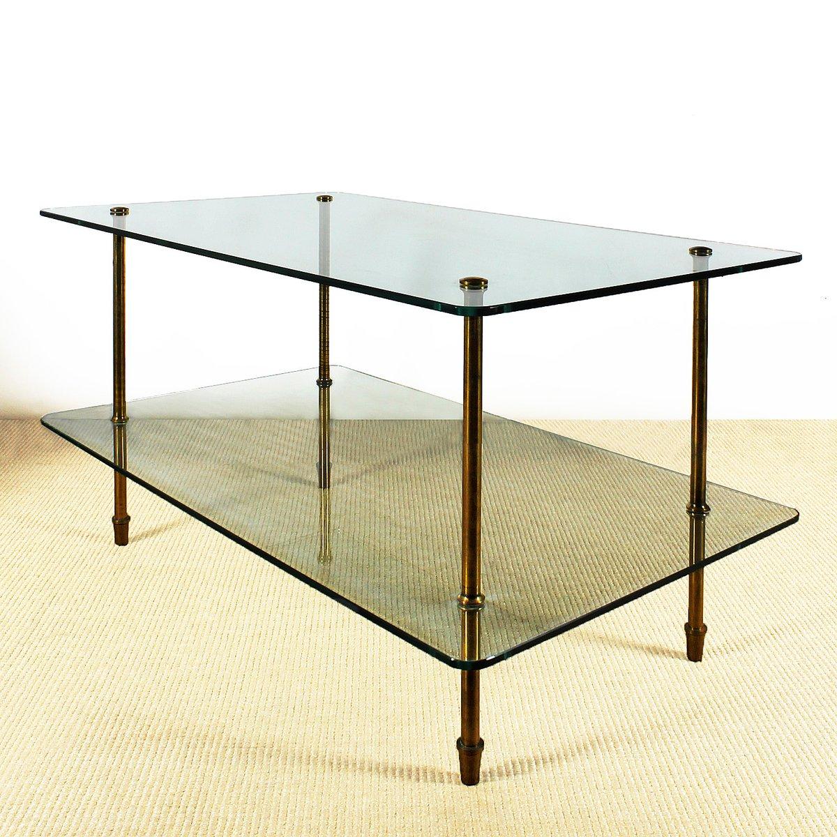 italienischer glas beistelltisch 1940er bei pamono kaufen. Black Bedroom Furniture Sets. Home Design Ideas