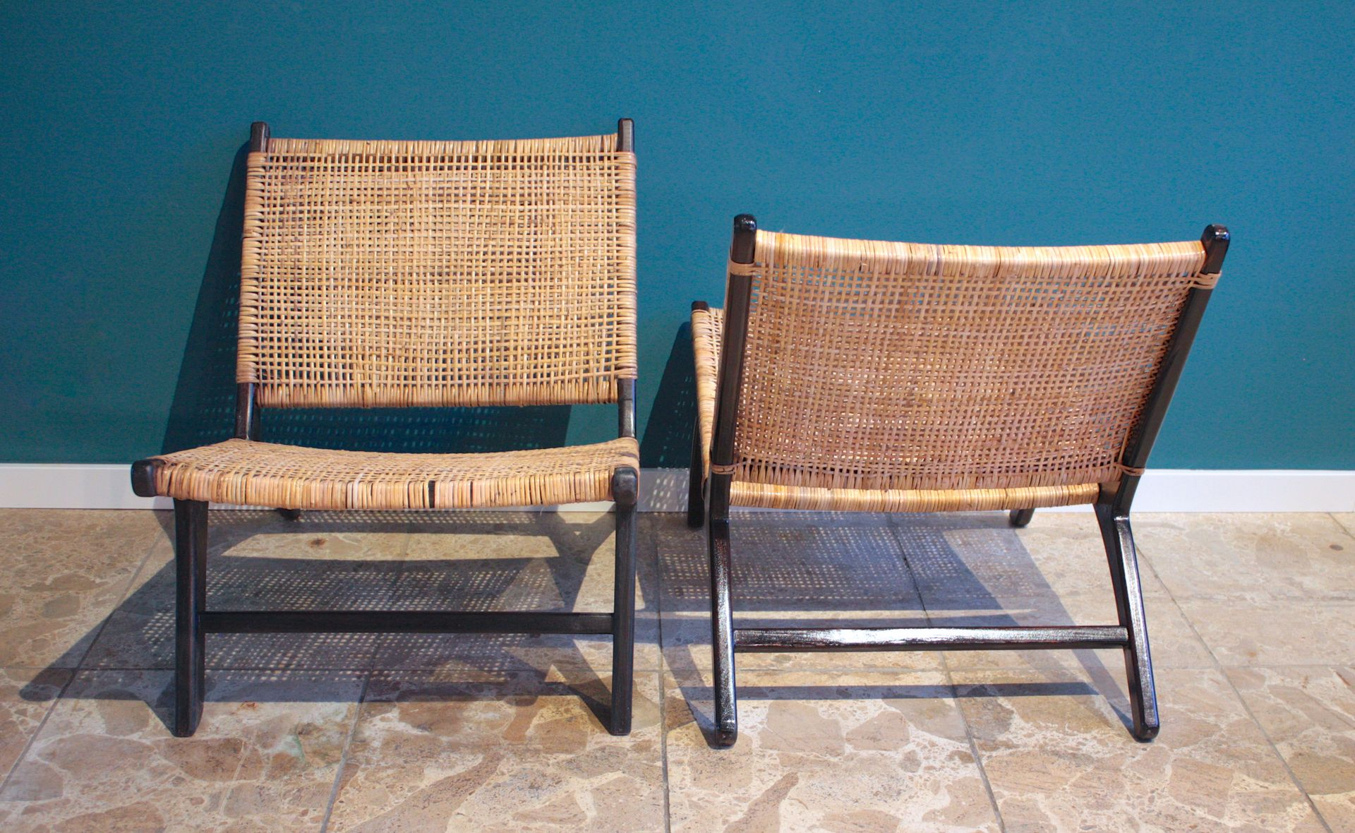 skandinavische rattan st hle 2er set bei pamono kaufen. Black Bedroom Furniture Sets. Home Design Ideas