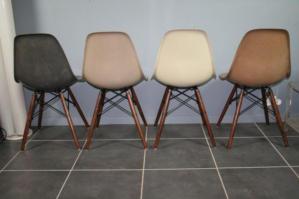 dsw fiberglas st hle von charles ray eames f r herman miller 1960er 4er set bei pamono kaufen. Black Bedroom Furniture Sets. Home Design Ideas