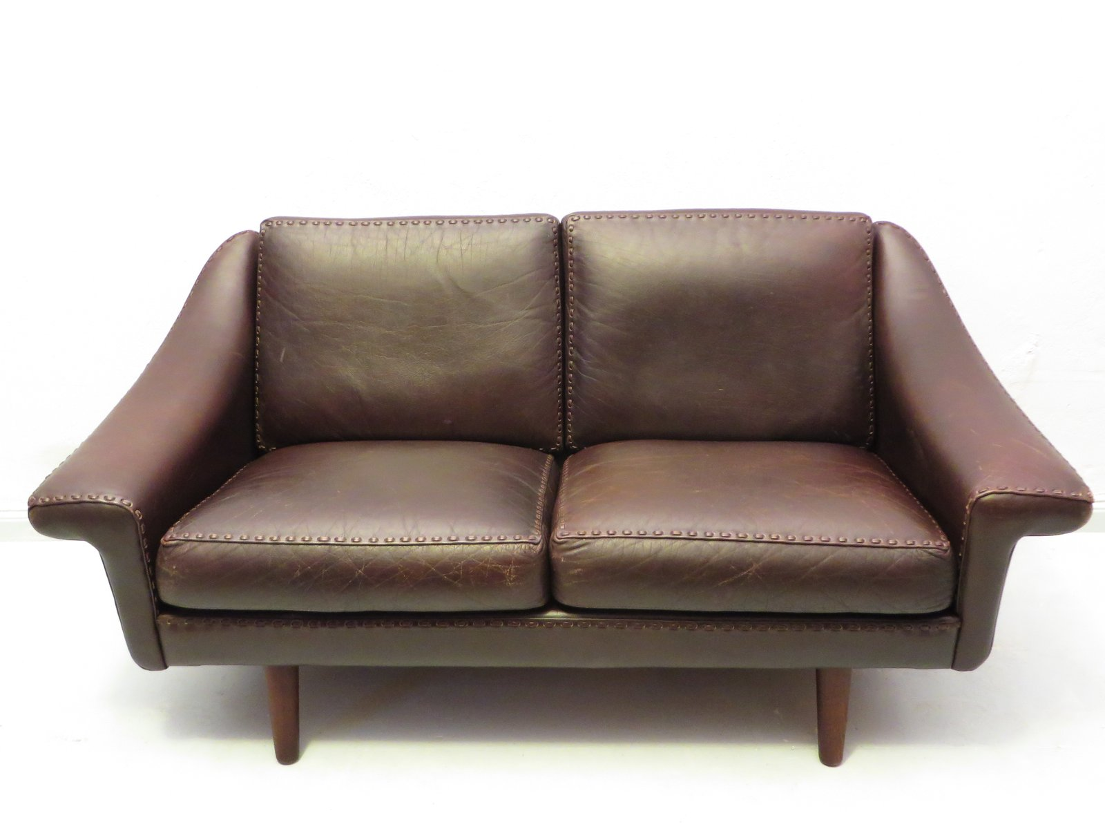Matador Leather Sofa by Aage Christensen for Erhardsen and
