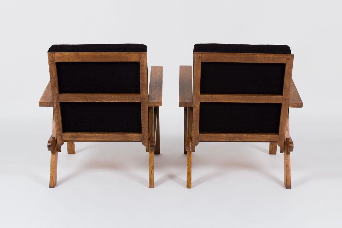 French oak armchairs 1950 set of 2 for sale at pamono for 2 armchairs for sale