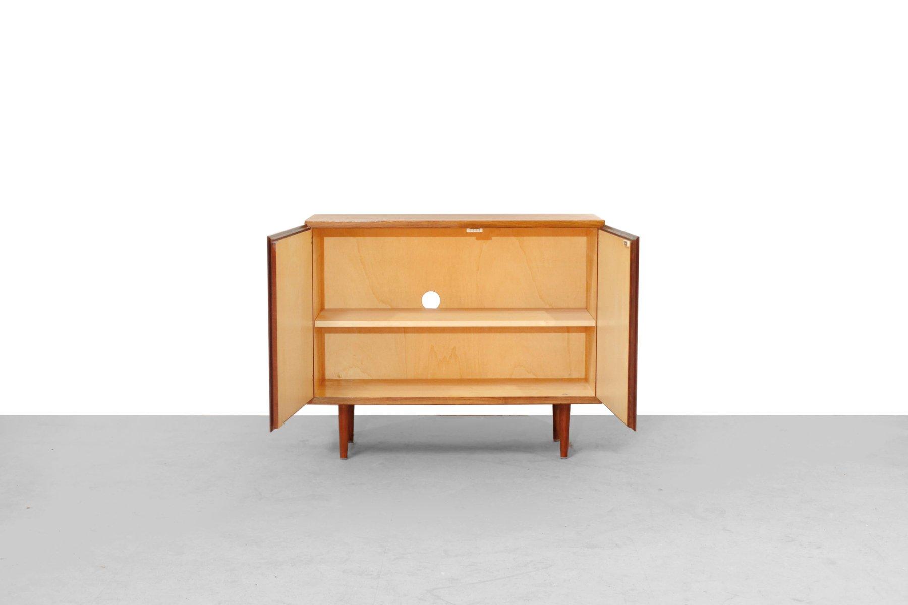 petit meuble deux portes en palissandre 1960s en vente sur pamono. Black Bedroom Furniture Sets. Home Design Ideas