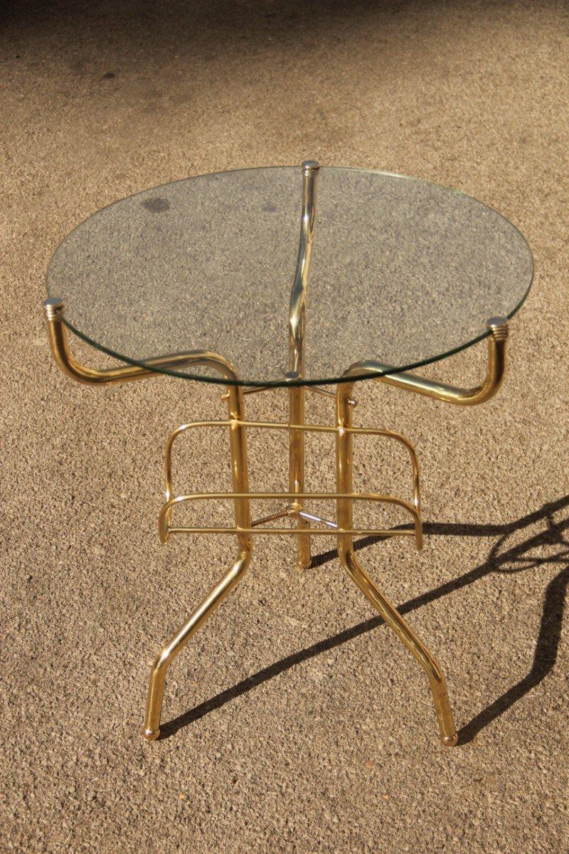 italienischer couchtisch aus messing mit glasplatte. Black Bedroom Furniture Sets. Home Design Ideas
