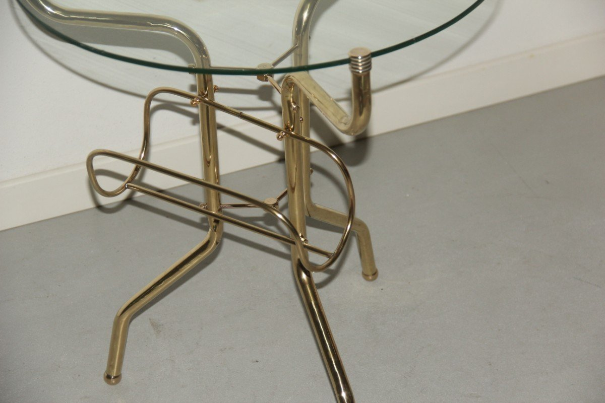 Italian Brass And Glass Coffee Table 1950s For Sale At Pamono