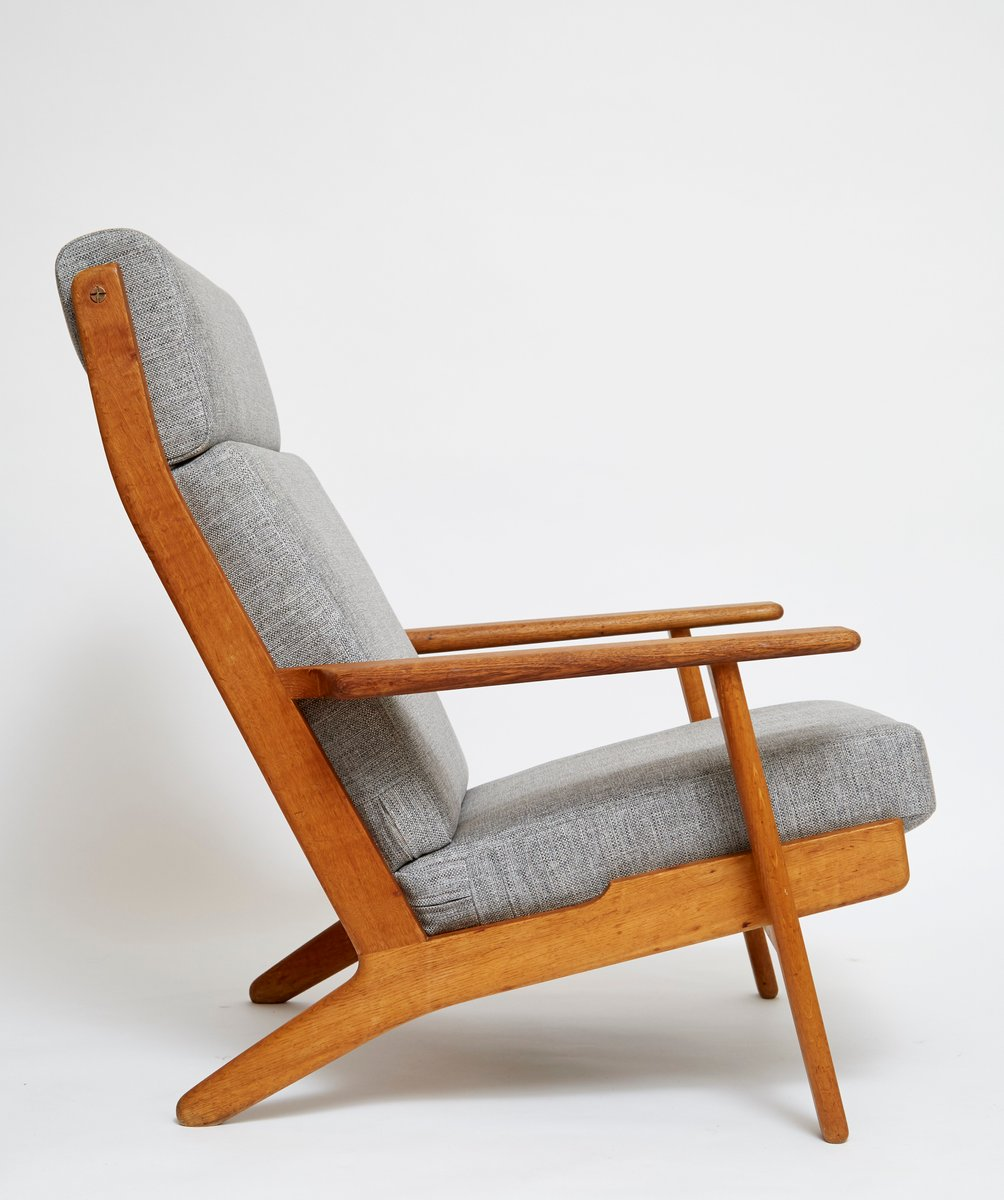 danish lounge chair ge 290 the plank by hans jwegner for getama