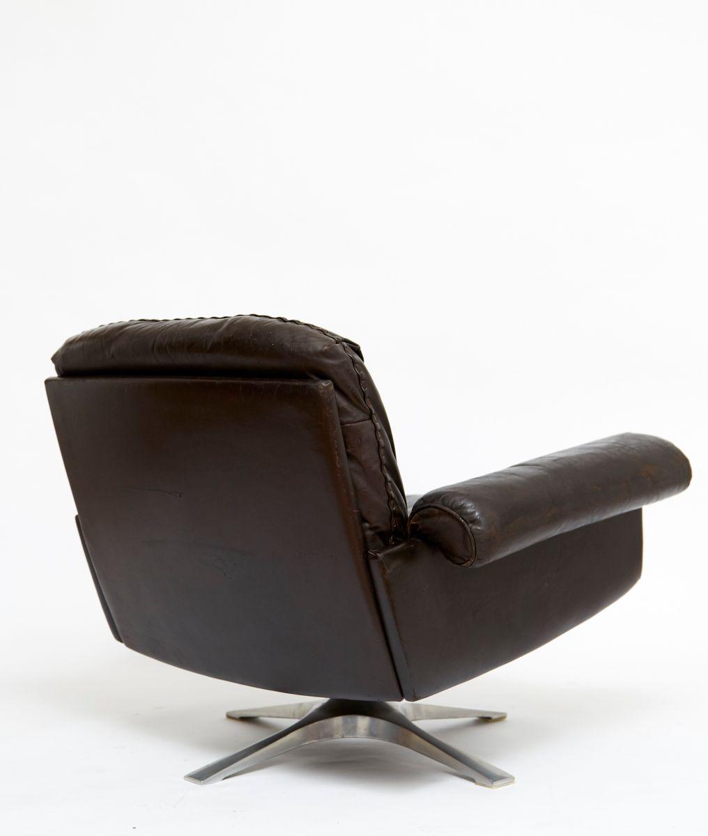 schweizer leder drehsessel modell ds 31 von de sede. Black Bedroom Furniture Sets. Home Design Ideas