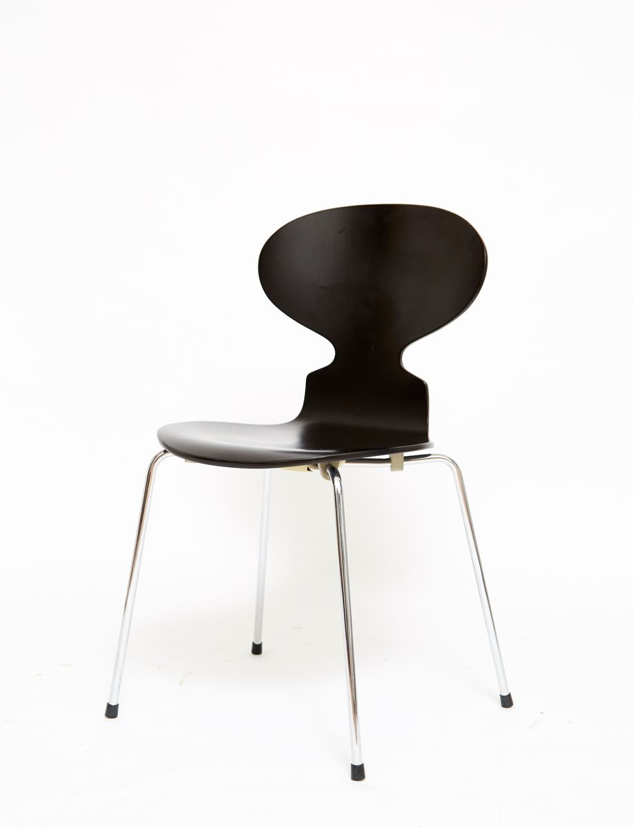 mid century 3101 ant chairs by arne jacobsen for fritz hansen set of 4 for sale at pamono. Black Bedroom Furniture Sets. Home Design Ideas