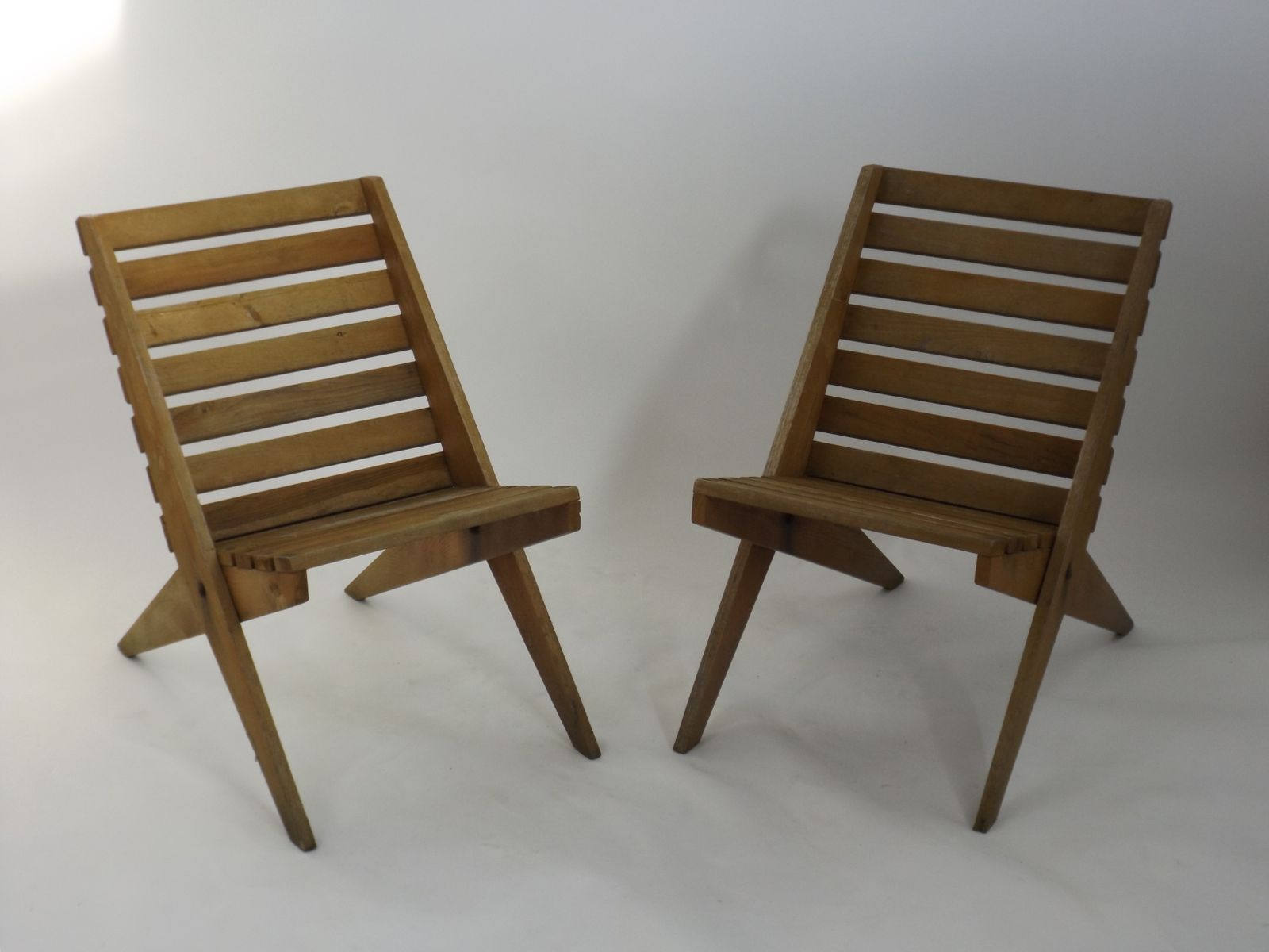 Scissor Folding Chairs 1950s Set of 2 for sale at Pamono