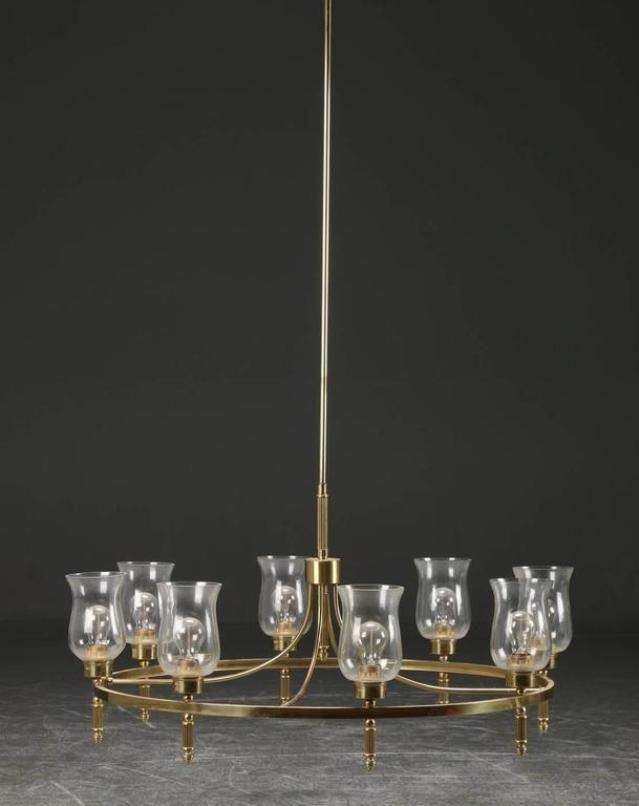 Large Brass Chandelier by Svend Mejlstr m 1960s for sale at Pamono – Large Brass Chandelier