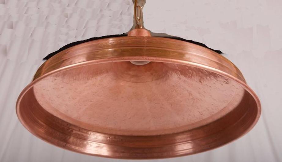 danish hammered copper pendant light 1950s 5 price per piece