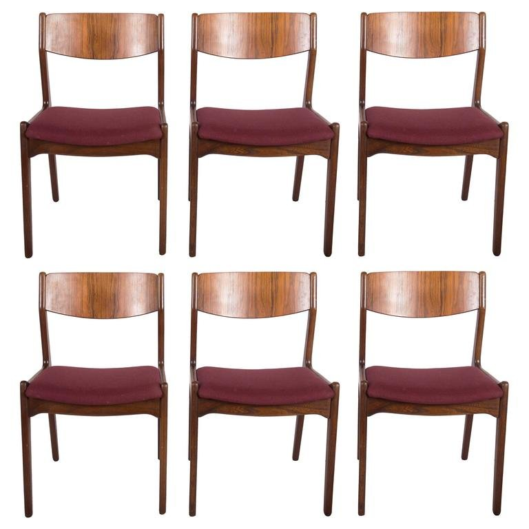 Mid-Century Danish Rosewood Dining Chairs, Set of 6 for ...