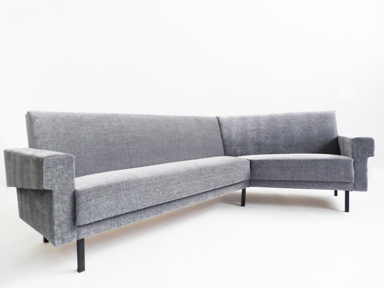 Vintage grey angular sofa for sale at pamono for Grey sofas for sale