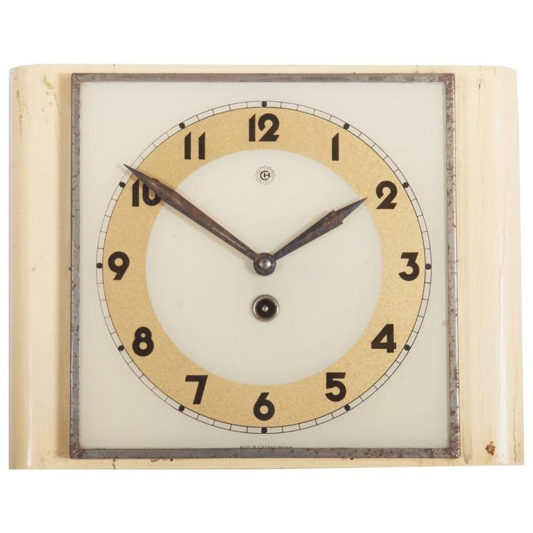 Art Deco Wall Clock from Chomutov 1930s for sale at Pamono