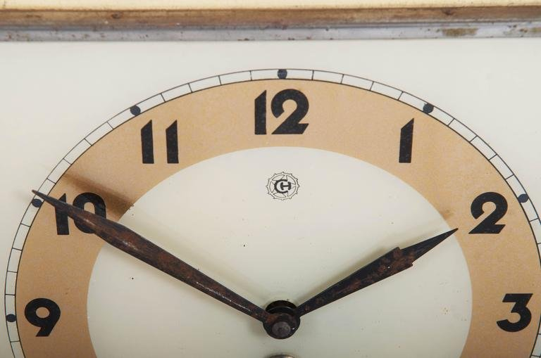 Art Deco Wall Clock From Chomutov, 1930s Part 33