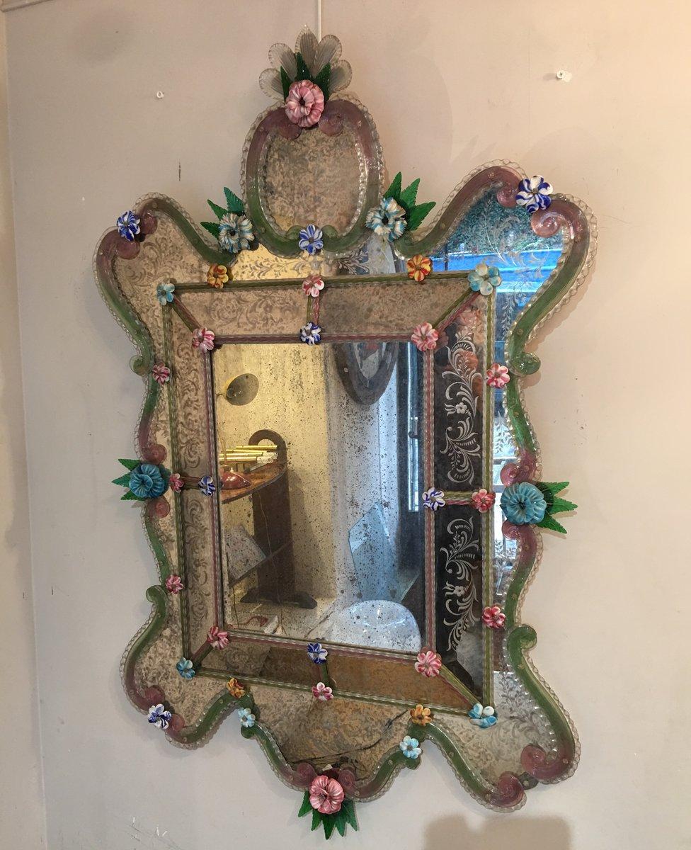 Miroir v nitien antique en vente sur pamono for Miroir venitien