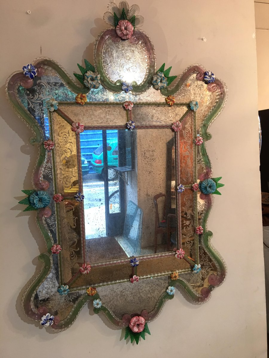 Antique Venetian Mirror For Sale At Pamono