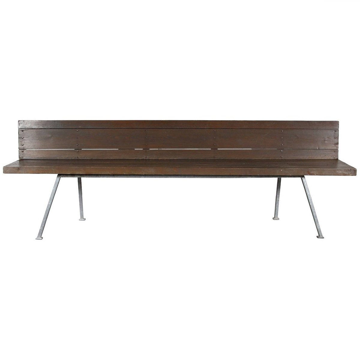 Dutch Metal And Wood Bench By Dom Hans Van Der Laan 1967 For Sale At Pamono