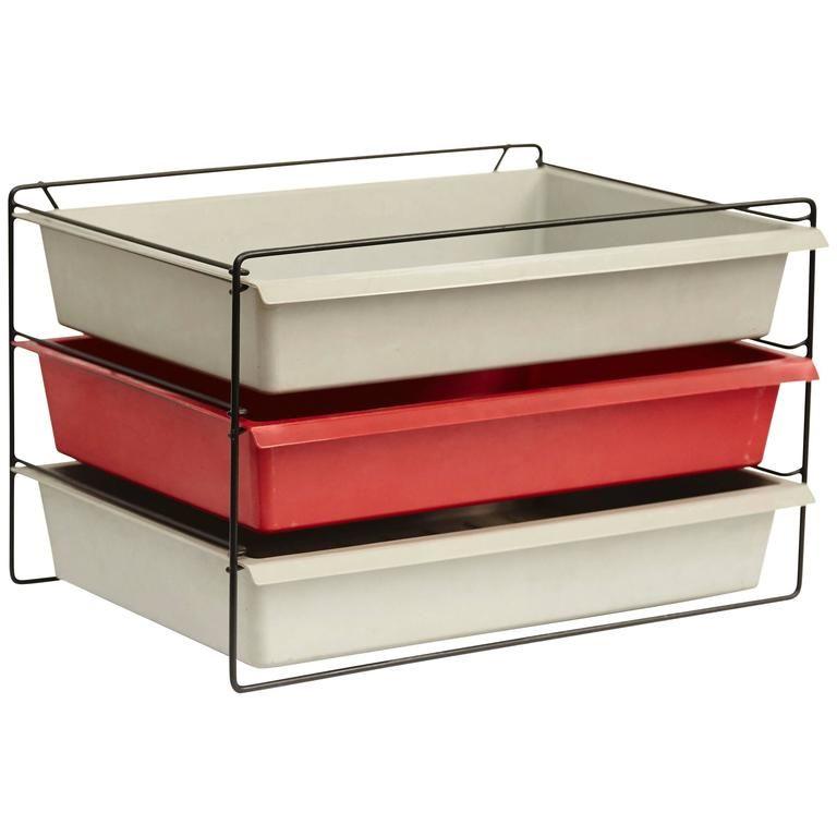 schreibtisch organizer von charlotte perriand 1950er bei pamono kaufen. Black Bedroom Furniture Sets. Home Design Ideas