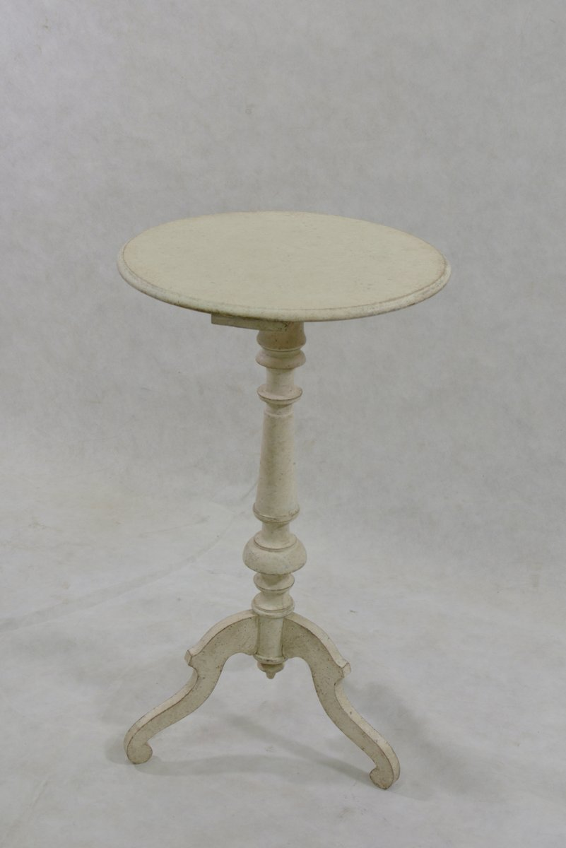 Small Antique Round Side Table For Sale At Pamono