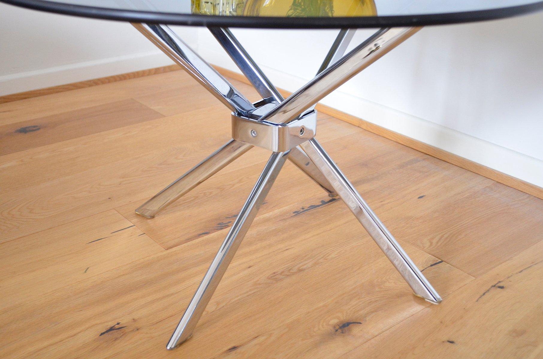 deutscher vintage beistelltisch aus verchromtem metall. Black Bedroom Furniture Sets. Home Design Ideas