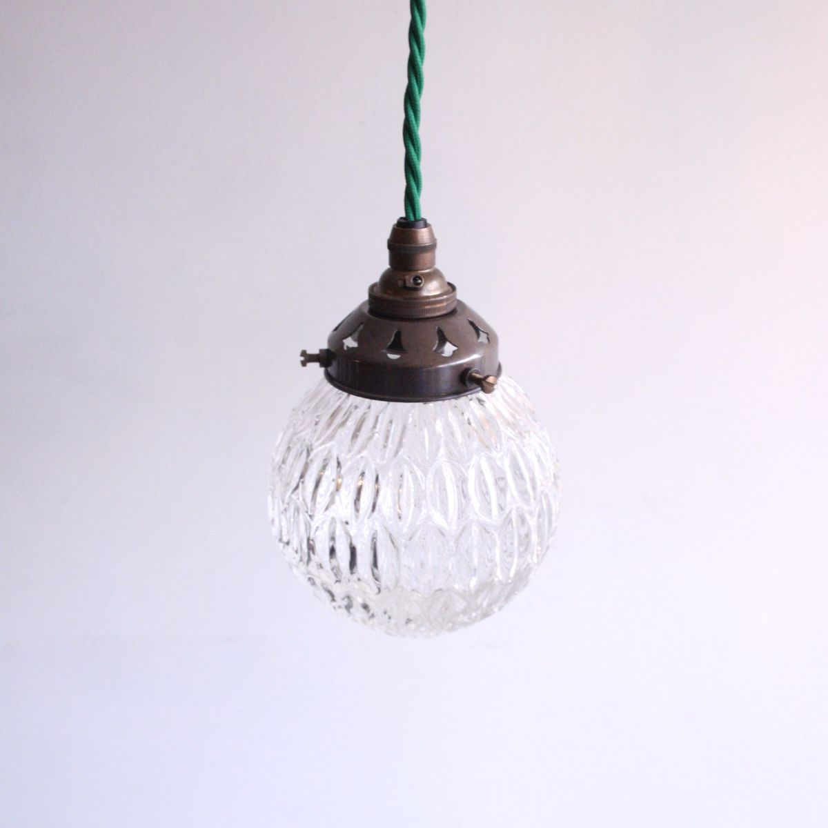 Vintage Textured Glass Pendant Lamp For Sale At Pamono