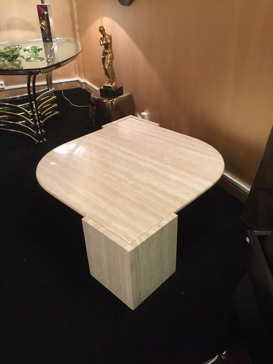 Vintage italian travertine coffee table for sale at pamono vintage italian travertine coffee table 3 price 140000 regular price 170000 geotapseo Image collections