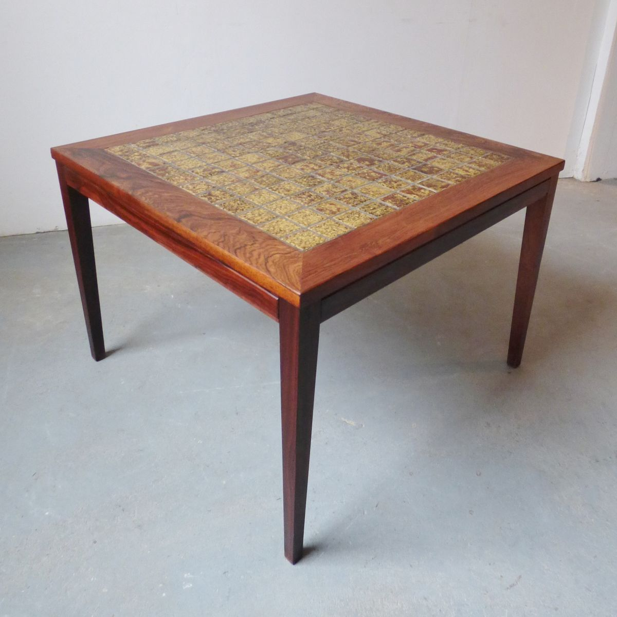 Danish Rosewood Coffee Table With Green Tiles 1960s For Sale At Pamono