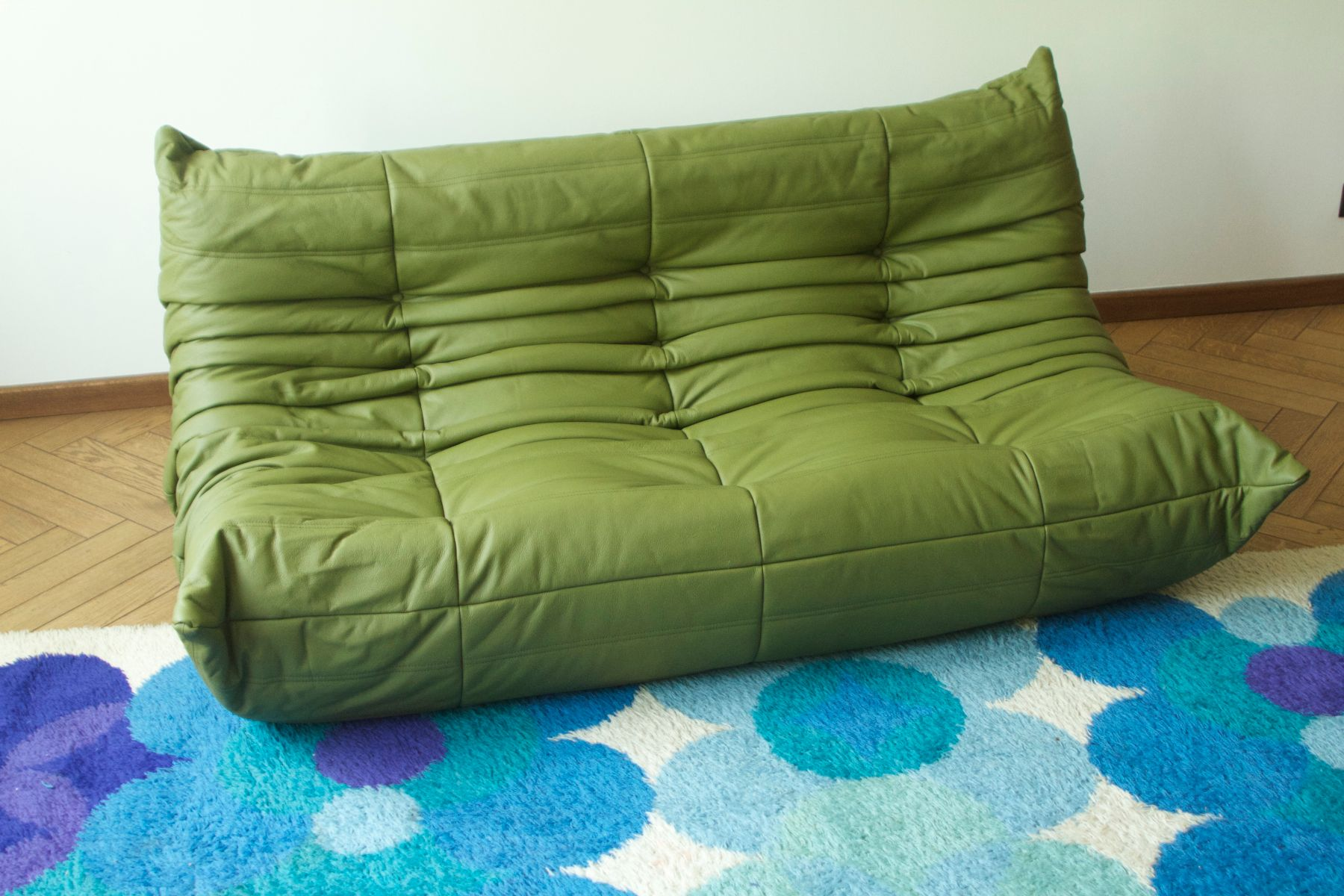 green leather togo sofa by michel ducaroy for ligne roset 19