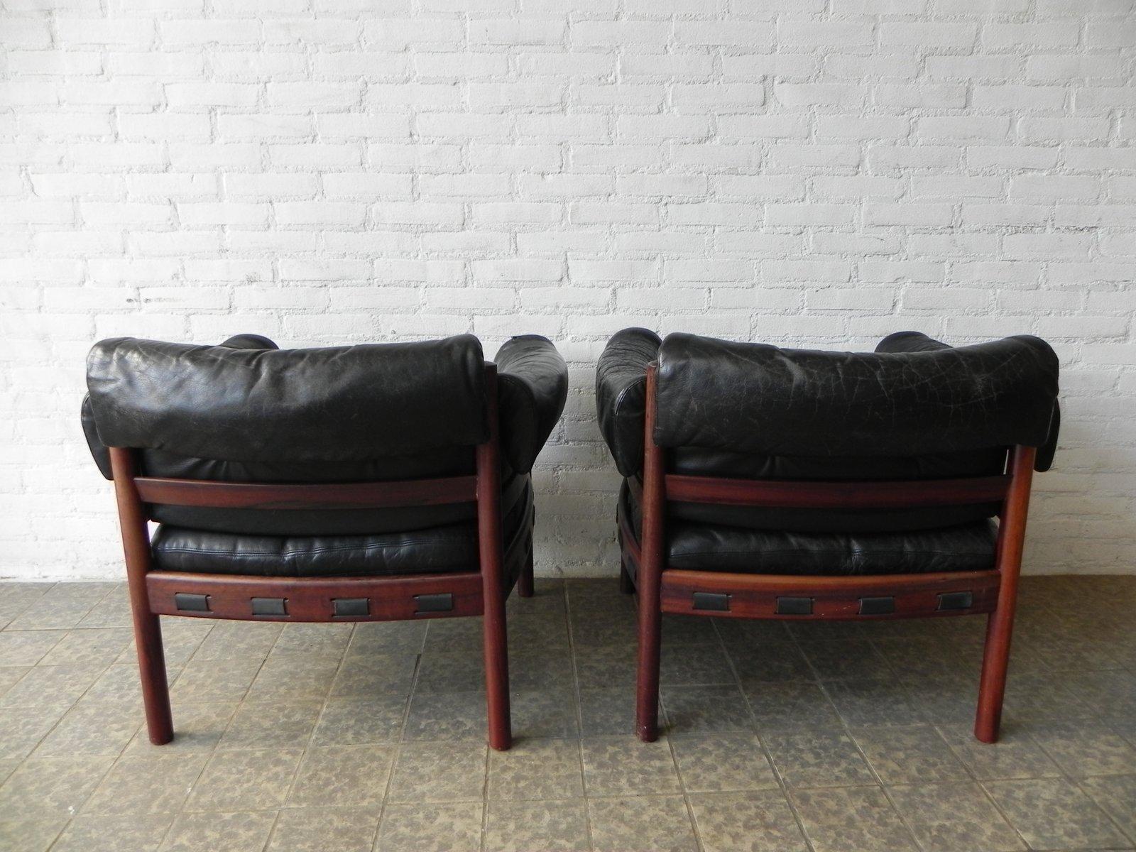 vintage ledersessel von arne norell f r coja 2er set bei pamono kaufen. Black Bedroom Furniture Sets. Home Design Ideas