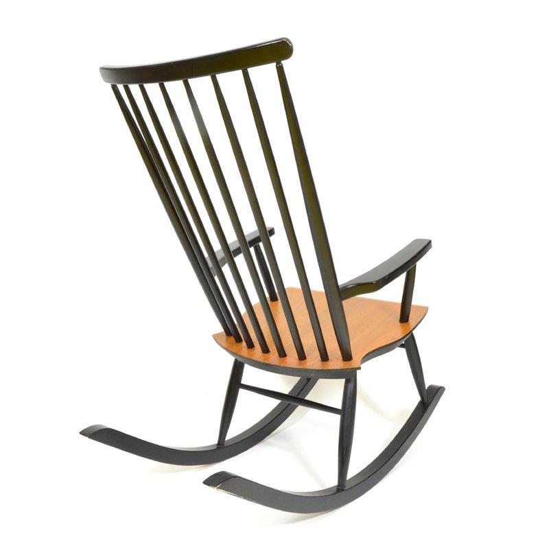 finnischer mid century schaukelstuhl bei pamono kaufen. Black Bedroom Furniture Sets. Home Design Ideas