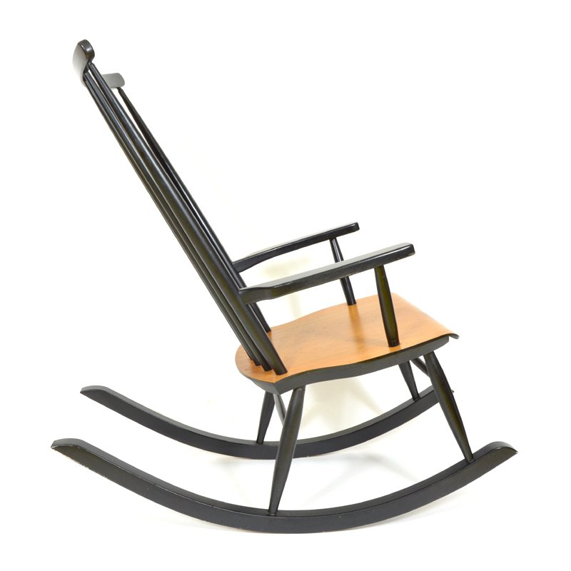 Mid century finnish rocking chair for sale at pamono for Z chair mid century