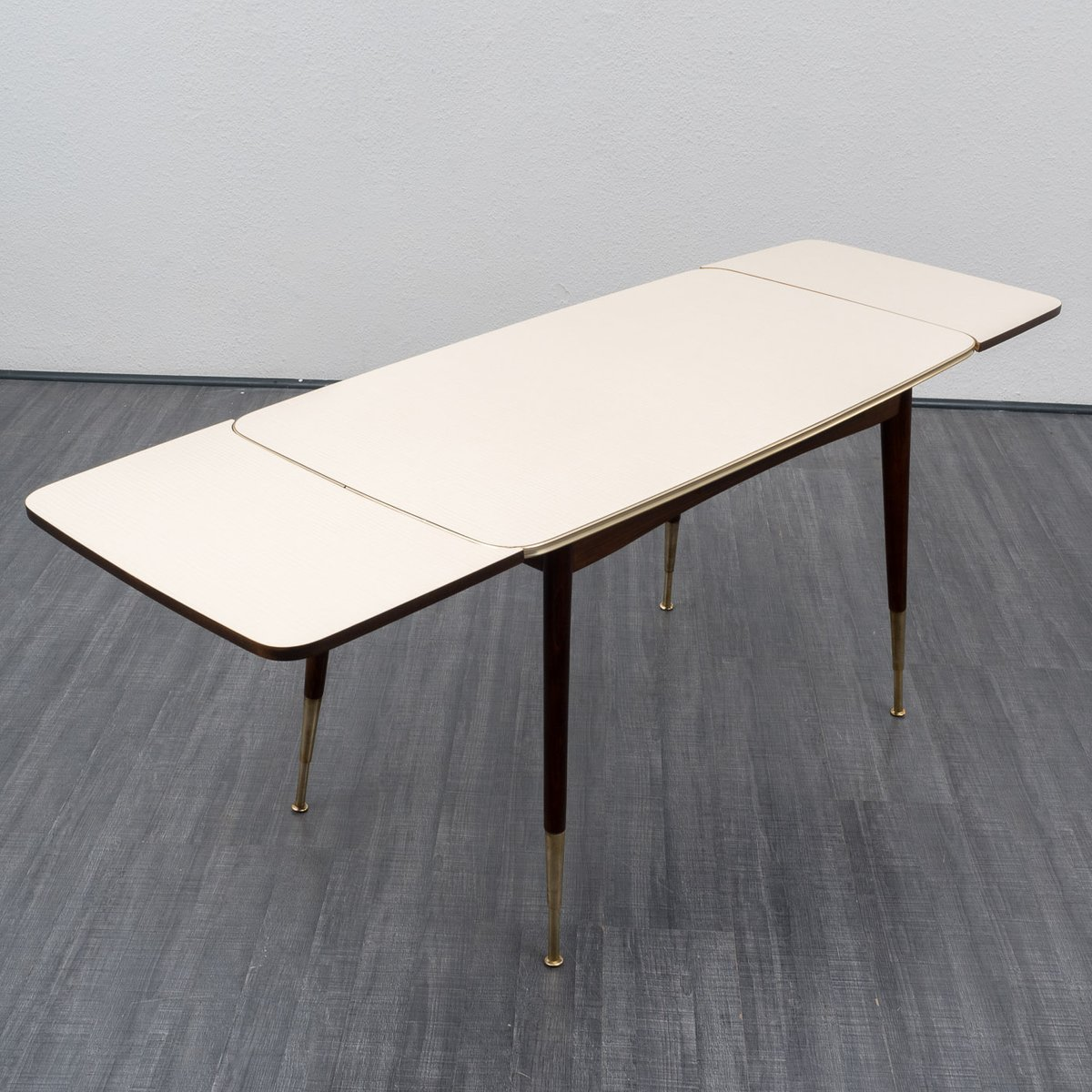 Table de salon hauteur ajustable rallonge 1950s en vente sur pamono - Table salon modulable hauteur ...