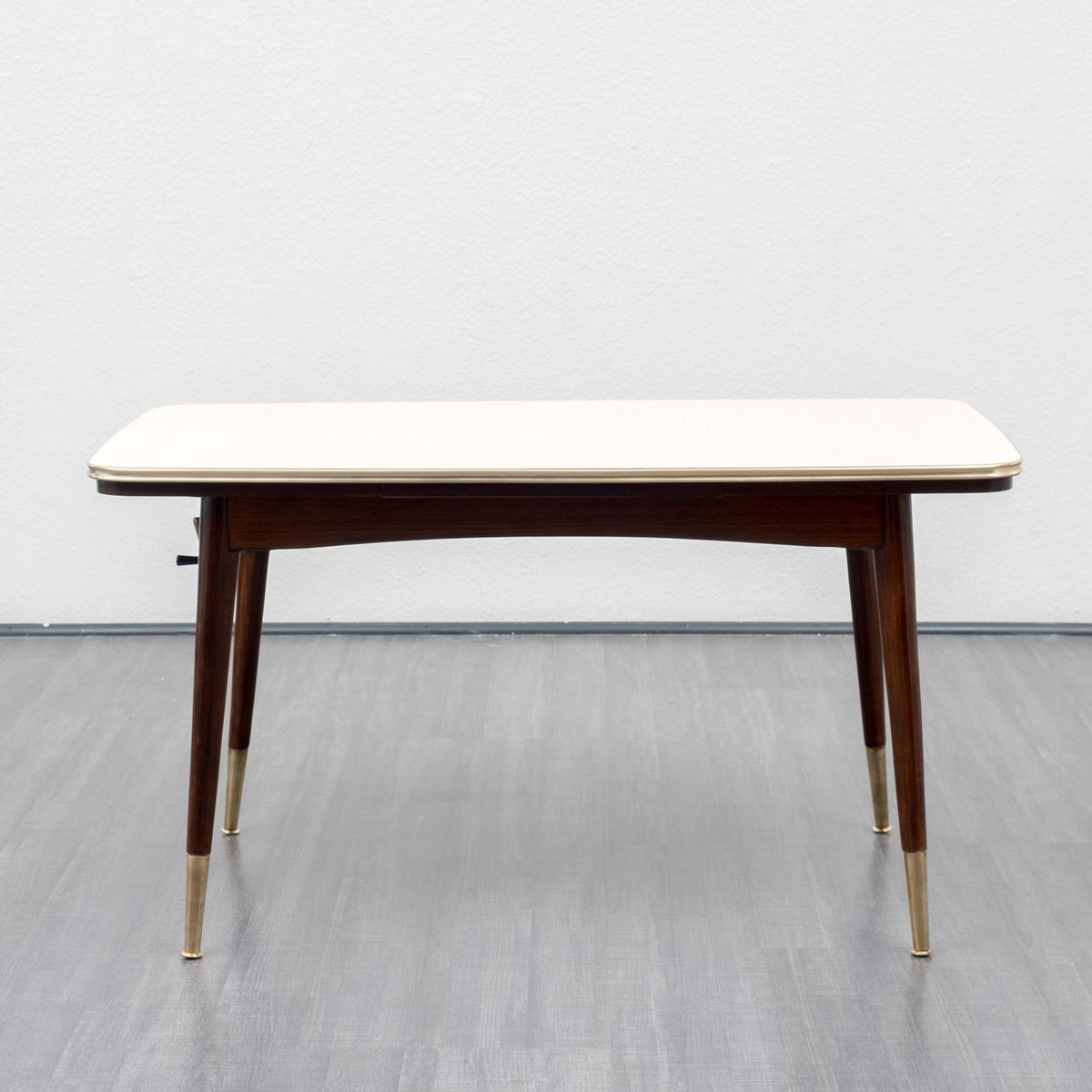 h henverstellbarer ausziehbarer esstisch 1950er bei. Black Bedroom Furniture Sets. Home Design Ideas