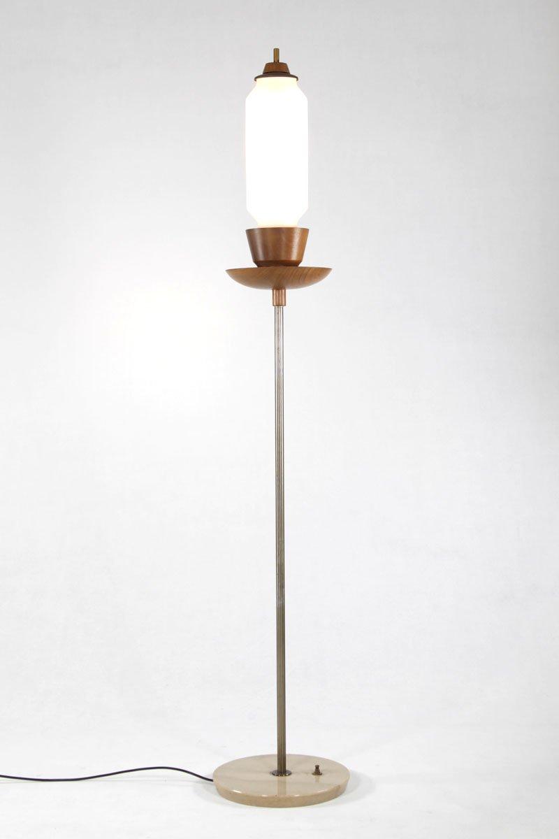 vintage italian marble teak u0026 brass floor lamp