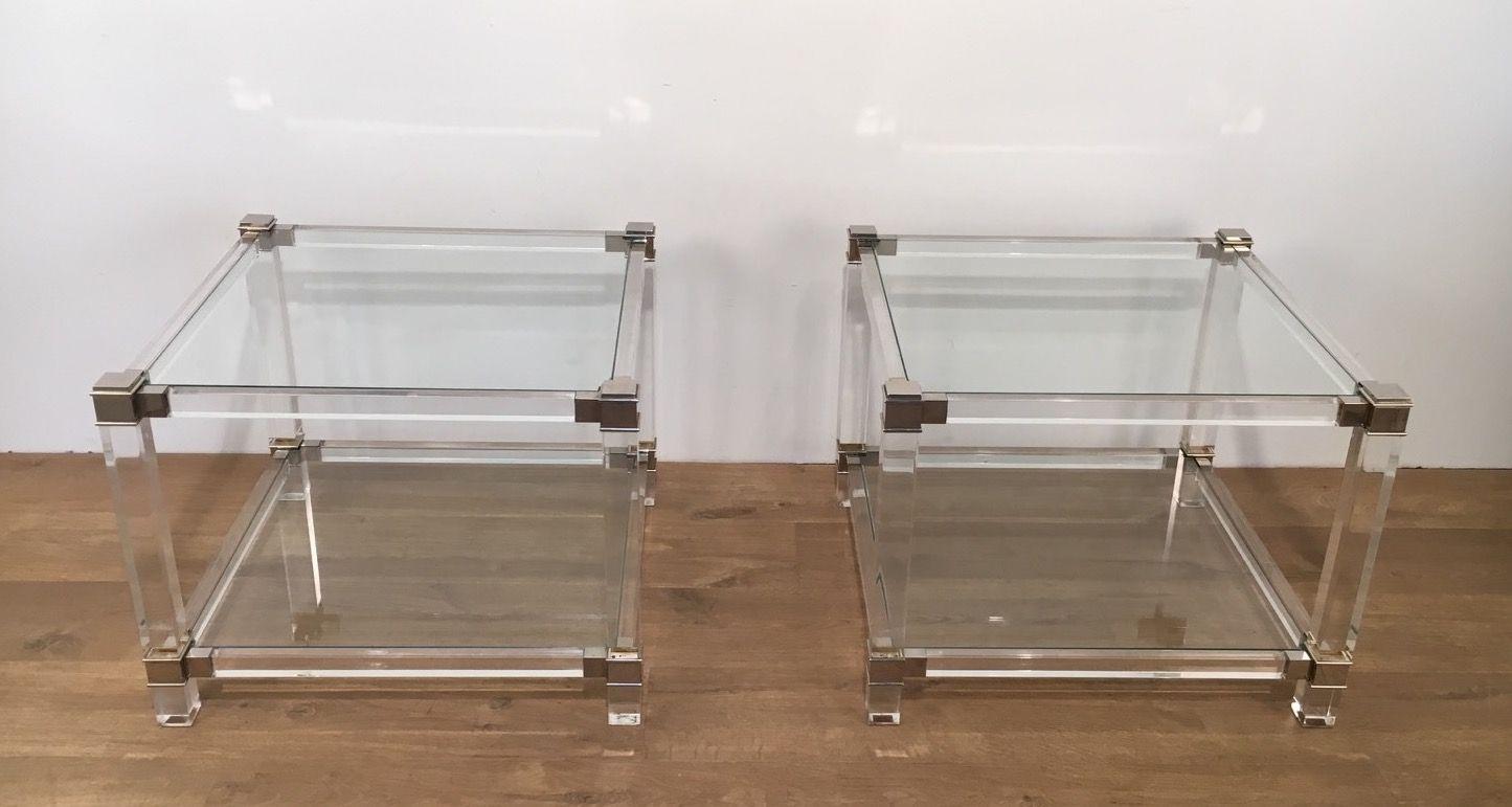 table chevet plexiglas with table de chevet plexiglas. Black Bedroom Furniture Sets. Home Design Ideas