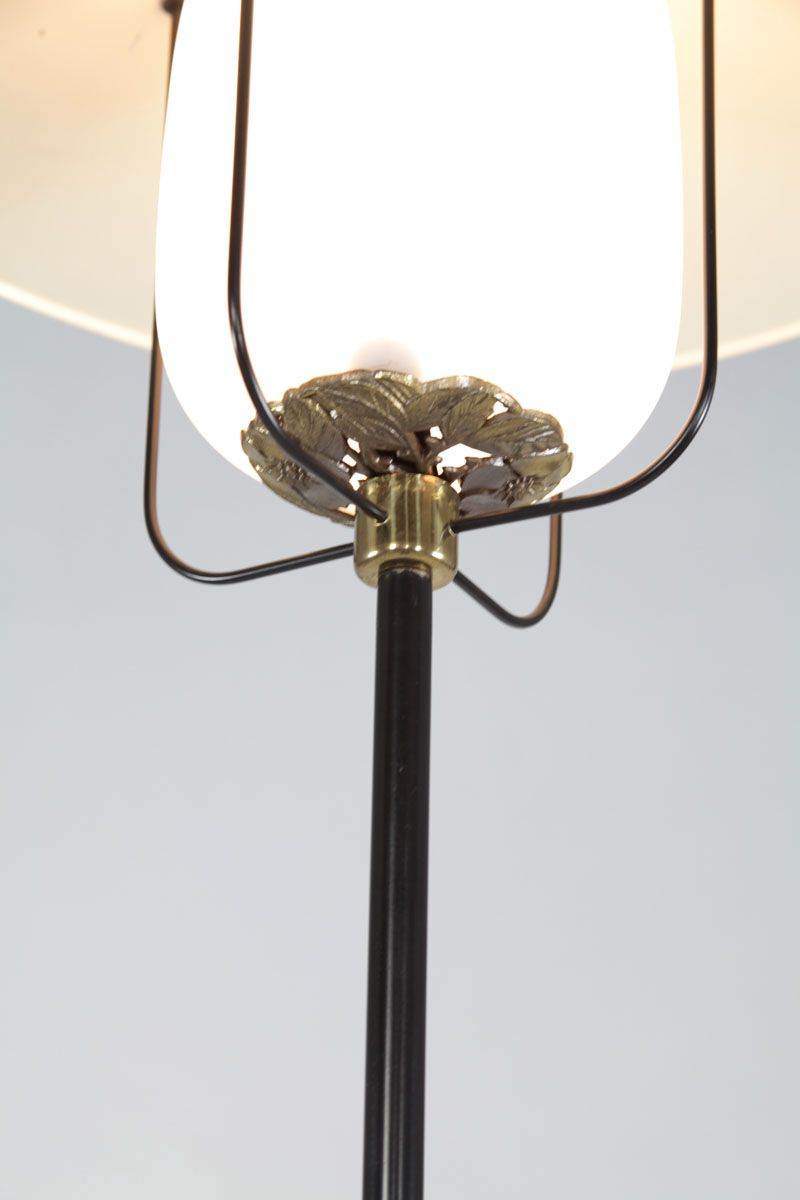 Italian aluminum brass floor lamp 1950s for sale at pamono for 1950 floor lamp