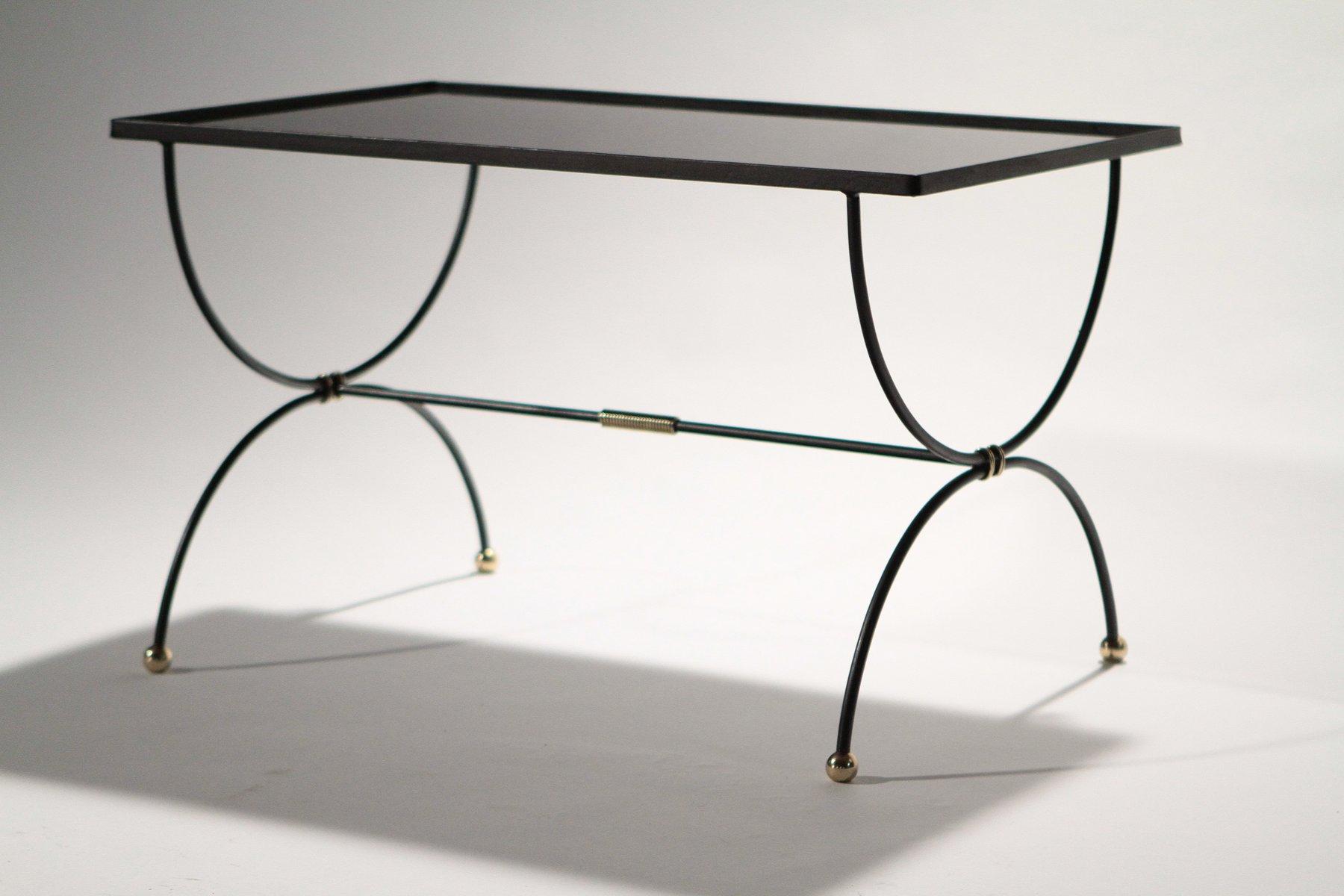 Tavolino da caffè Mid-Century in ferro battuto, anni \'50 in ...
