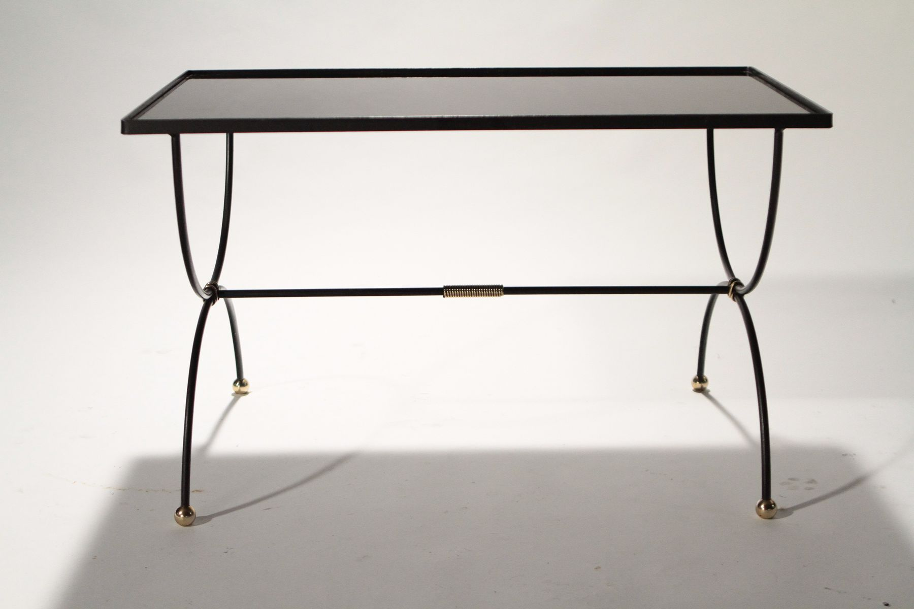 Mid century wrought iron coffee table 1950s for sale at for Wrought iron coffee table for sale